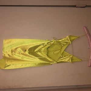 Fashion Nova Dresses - Gorgeous neon yellow dress.